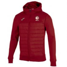 Crewe United Berna Hoodie Jacket Red - Adults 2018